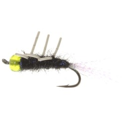 Gold Bead Head EMB Steelhead Fly - Rubber Legs, Dozen in Chartreuse