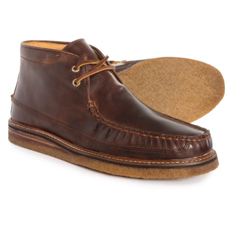 Gold Cup Crepe Chukka Boots - Leather