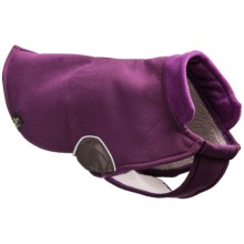 Gold Paw Cascade Hook-and-Loop Winter Dog Coat in Eggplant/Purple/Chocolate - Closeouts
