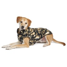 Gold Paw Stretch Fleece Pullover Dog Sweater in Wild Dog - Closeouts