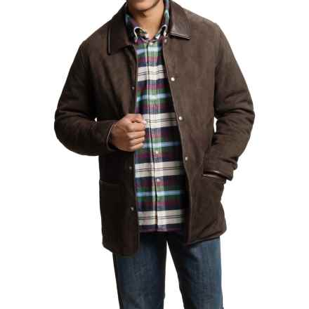 Golden Bear Hollister Goat Suede Jacket (For Men) in Double Dutch - Closeouts