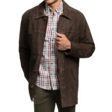 Golden Bear Langdon Car Coat - Goat Suede (For Men) in Double Dutch - Closeouts