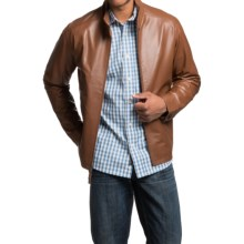 Golden Bear Layton Leather Jacket (For Men) in Saddle - Closeouts