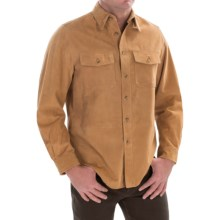 Golden Bear Stevenson Suede Shirt - Long Sleeve (For Men) in Camel - Closeouts
