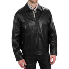 Golden Bear The Barracuda Weekend Jacket - Lambskin Leather (For Men) in Black - Closeouts