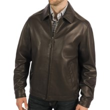 Golden Bear The Bartlett Classic Bomber Jacket - Lambskin Leather (For Men) in Dark Brown - Closeouts