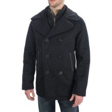 Golden Bear The Brentwood Classic Peacoat - Lux Wool, Insulated (For Men) in Black - Closeouts