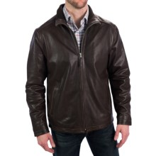 Golden Bear The Bryant Jacket - Lambskin Leather, Insulated (For Men) in Dark Brown - Closeouts