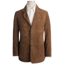 Golden Bear The Clark Blazer - Goatskin Suede (For Men) in Brandy - Closeouts