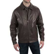 Golden Bear The Montgomery Jacket - Lambskin Leather (For Tall Men) in Brown - Closeouts