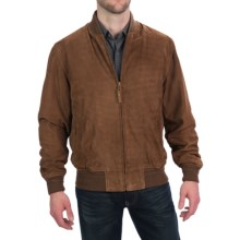 Golden Bear The National Baseball Jacket - Goatskin Suede (For Men) in Brandy - Closeouts
