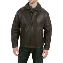 Golden Bear The Richmond Jacket - Shrunken Lambskin Leather in Dark Brown - Closeouts
