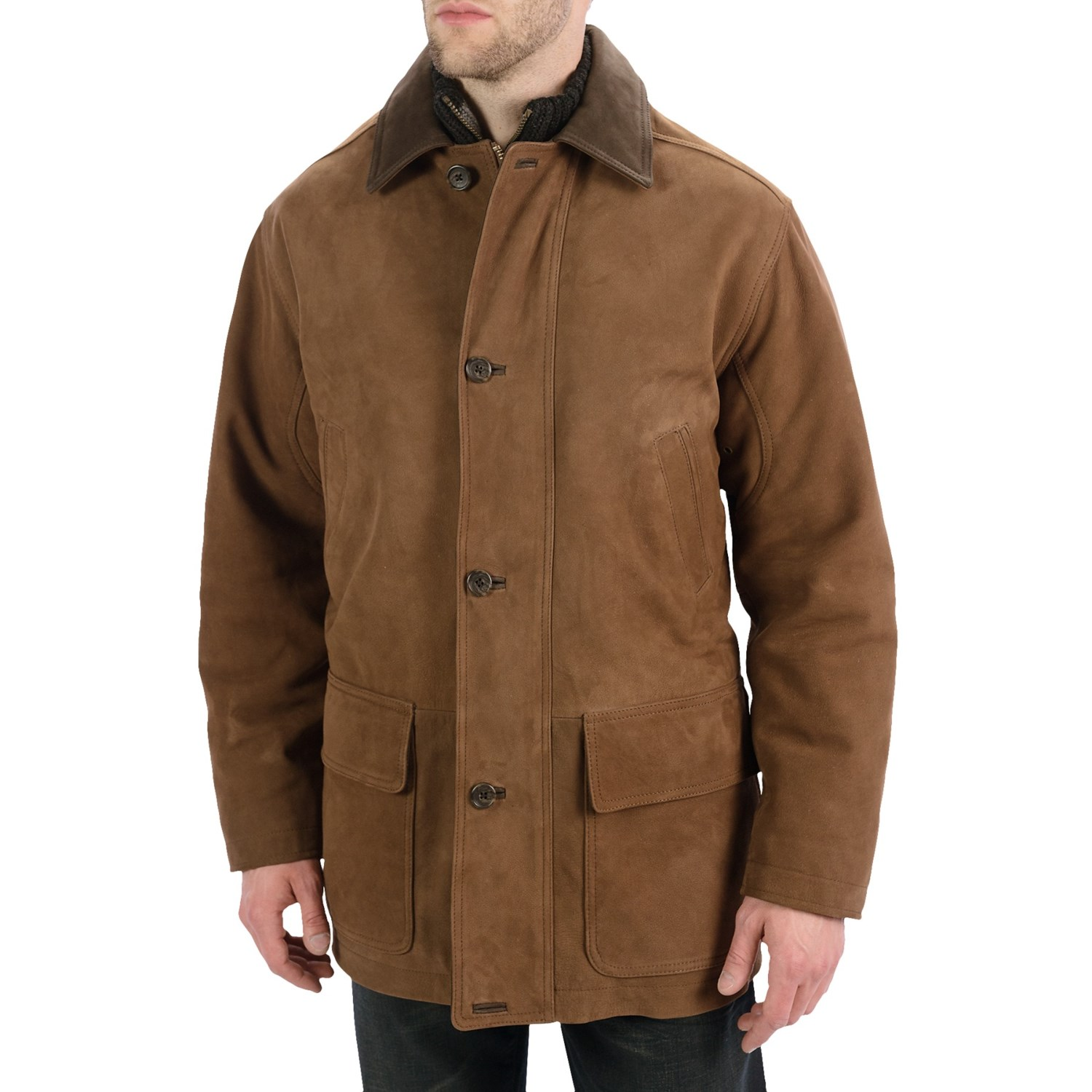Golden Bear The Rutherford Barn Coat Leather For Men
