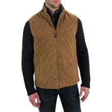 Golden Bear The Silverado Vest - Goatskin Suede (For Men) in Cognac - Closeouts