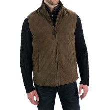 Golden Bear The Silverado Vest - Goatskin Suede (For Men) in Dark Green - Closeouts