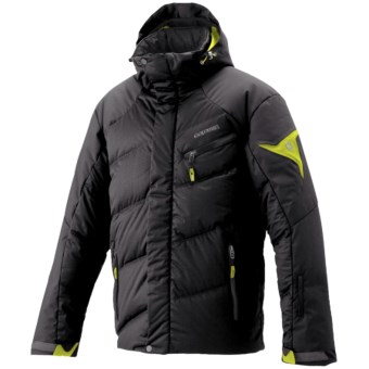 Goldwin Stealth Adflex Down Ski Jacket - H.O.O.D. System (For Men) in Black