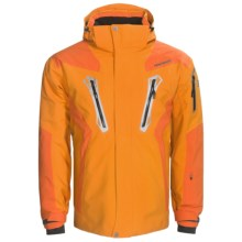 Goldwin Stealth Ski Jacket with H.O.O.D. System - Waterproof, Insulated (For Men) in Light Orange - Closeouts