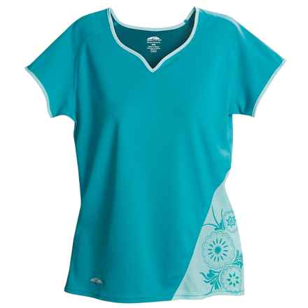 GoLite DriMove Cocona® Shirt - UPF 50+, Sweetheart Neck, Short Sleeve (For Women) in Bluebird/Aqua - Closeouts