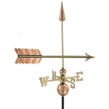 Good Directions Arrow Weathervane - Roof Mount in Polished Copper - Overstock