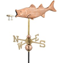 Good Directions Bass and Lure Garden Weathervane in Polished Copper - Overstock