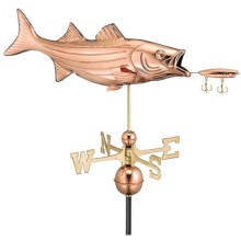 Good Directions Bass Weathervane - Roof Mount in Polished Copper - Overstock