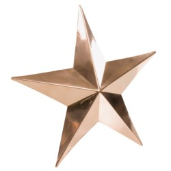 Good Directions Copper Barn Star - Small in Polished Copper