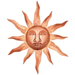 Good Directions Copper Sun Face - Medium in Polished Copper