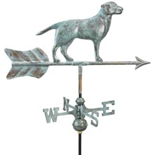 Good Directions Labrador Retriever Weathervane - Garden Pole in Blue Verde Copper - Overstock