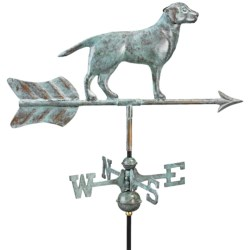 Good Directions Labrador Retriever Weathervane - Garden Pole in Blue Verde Copper