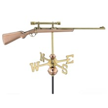 Good Directions Rifle Weathervane - Garden Pole in Polished Copper - Overstock