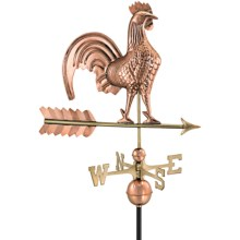 Good Directions Rooster Weathervane - Roof Mount in Polished Copper - Overstock