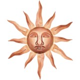 Good Directions Small Sun Face - Copper
