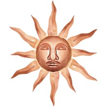 Good Directions Small Sun Face - Copper in Polished Copper - Overstock