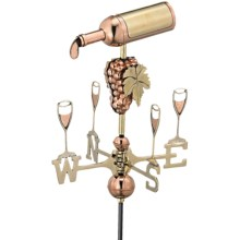Good Directions Wine Bottle Weathervane - Garden Pole in Polished Copper - Overstock