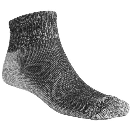 Goodhew 1/4 Crew Hiking Socks - Merino Wool,  Light Cushion (For Men and Women) in Black