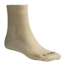 Goodhew 1/4 Crew Hiking Socks - Merino Wool, Midweight, Medium Cushion (For Men and Women) in Khaki - 2nds