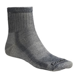 Goodhew 1/4 Crew Hiking Socks - Merino Wool, Midweight, Medium Cushion (For Men and Women) in Khaki