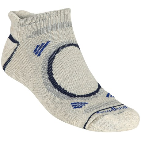 Goodhew Adventurer Micro Socks - Merino Wool (For Men) in Oyster/Nayv/Royal
