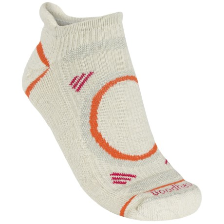 Goodhew Adventurer Micro Socks - Merino Wool (For Women) in Oyster/Languste/Berry
