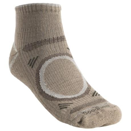Goodhew Adventurer Socks - Merino Wool, Quarter-Crew (For Men) in Charcoal/Black/Gail Grey