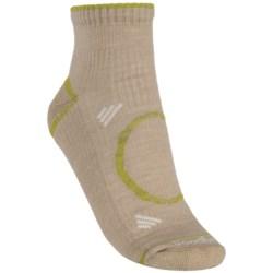 Goodhew Adventurer Socks - Merino Wool, Quarter-Crew (For Women) in Khaki/Poplar White/Avacado
