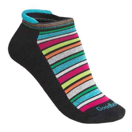 Goodhew Awning Stripe Socks - Merino Wool, Ankle (For Women) in Black - Closeouts
