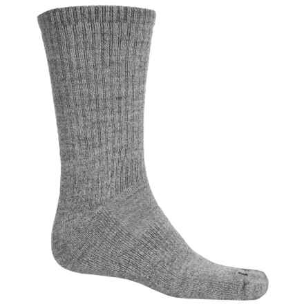 Goodhew Backroad Hiking Socks - Lambswool-Alpaca, Crew (For Men) in Grey - Closeouts