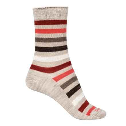 Goodhew Bandit Socks - Merino Wool, Quarter Crew (For Women) in Barley - Closeouts
