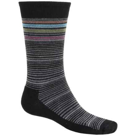 Goodhew Bandwidth Socks - Merino Wool, Crew (For Men) in Black - Closeouts