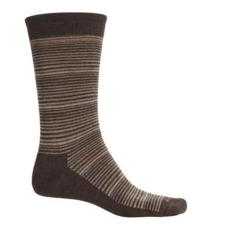 Goodhew Bandwidth Socks - Merino Wool, Crew (For Men) in Espresso - Closeouts