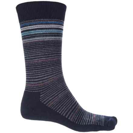 Goodhew Bandwidth Socks - Merino Wool, Crew (For Men) in Navy - Closeouts