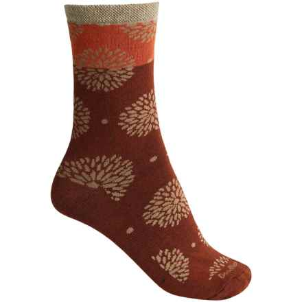 Goodhew Blossom Socks - Merino Wool, Crew (For Women) in Brick - Closeouts
