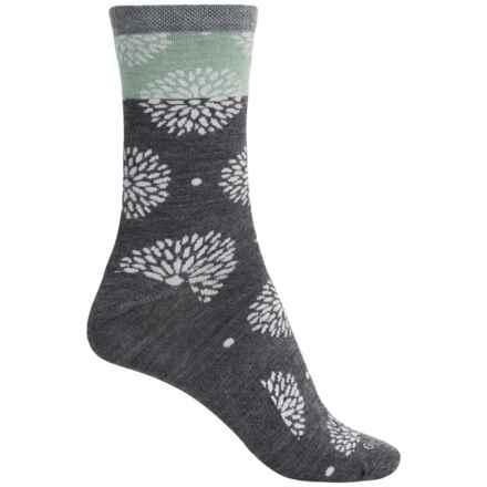 Goodhew Blossom Socks - Merino Wool, Crew (For Women) in Charcoal - Closeouts