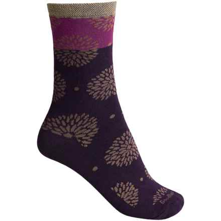 Goodhew Blossom Socks - Merino Wool, Crew (For Women) in Concorde - Closeouts